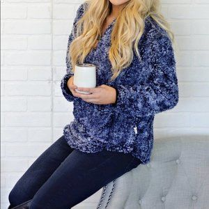 Simply Southern Navy Sherpa 1/4 Zip Pullover